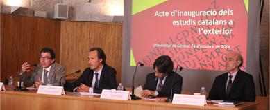 Joan Ramon Resina pronuncia a la UdG la conferència inaugural del curs 2014-2015 dels estudis catalans a les universitats de l'exterior
