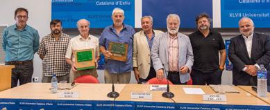 El president de la Xarxa Vives, Josep A. Planell, a la cloenda de la Universitat Catalana d'Estiu