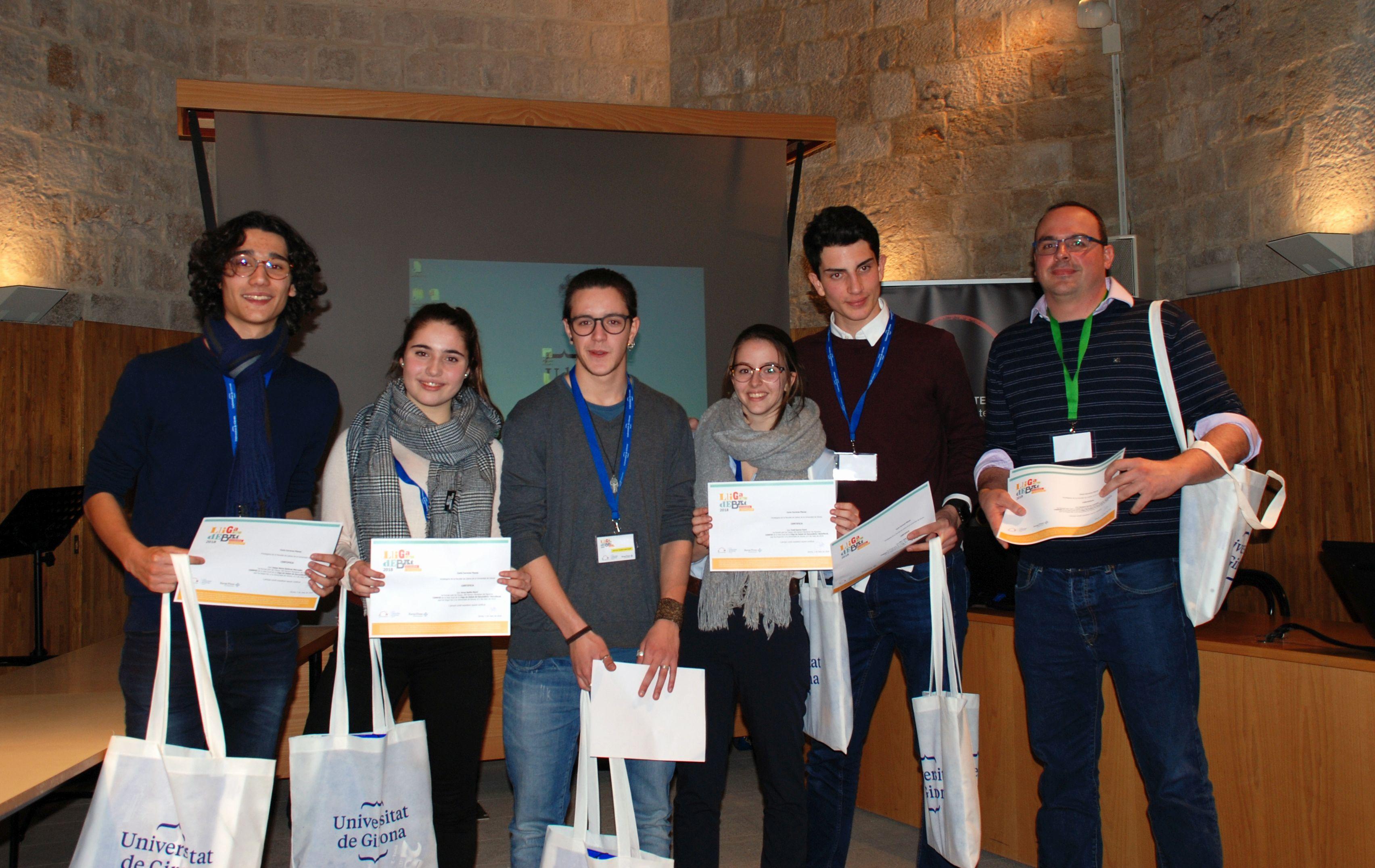 L'equip de l'IES Ramon Muntaner (Figueres) venç a la fase local de la Lliga de Debat de Secundària i Batxillerat de la Xarxa Vives a la Universitat de Girona