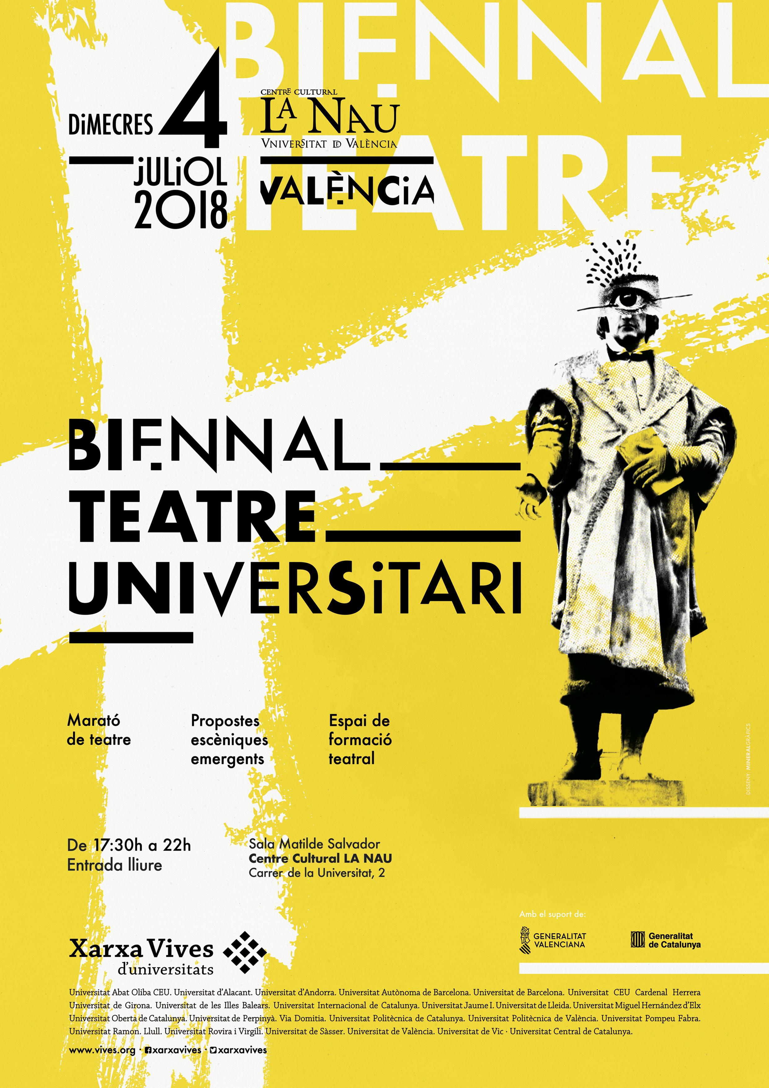 El Centre Cultural La Nau de la Universitat de València, escenari d'una marató interuniversitària de teatre