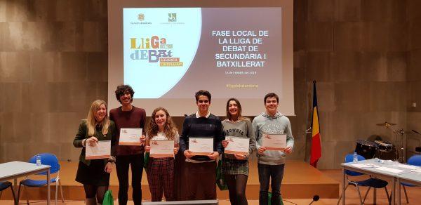 Campió Lliga de Debat fase local Universitat Andorra
