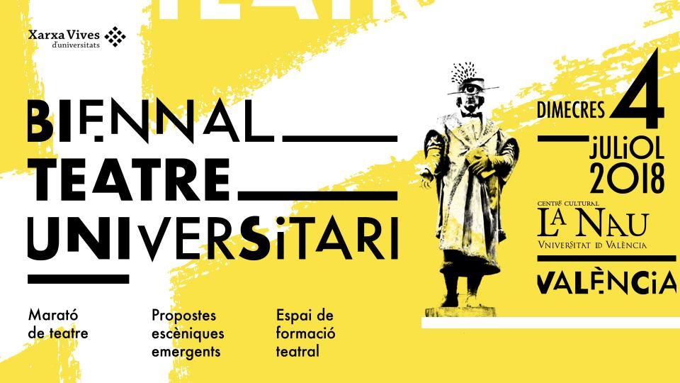 Cartell I Biennal de Teatre Universitari