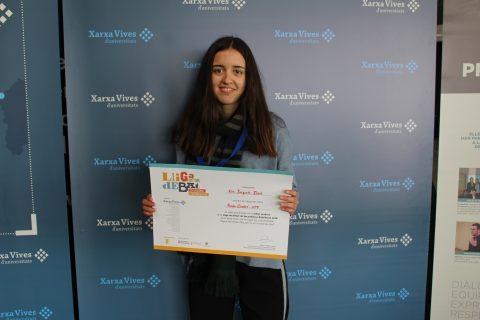 Eva Busquets, millor oradora Lliga de Debat de Secundària i Batxillerat 2018