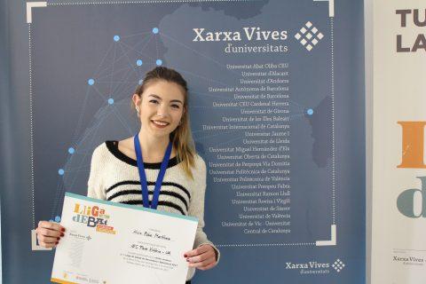 Alicia Rubio, millor oradora Lliga de Debat de Secundària i Batxillerat 2018