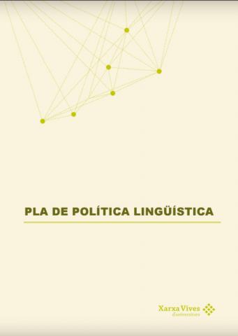 Book Cover: Pla de política lingüística de la Xarxa Vives d'Universitats