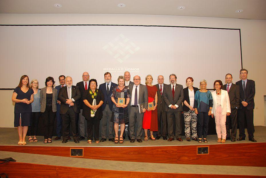 Rectors, vicerectors i homenatjades Medalla Honor Xarxa Vives 2019