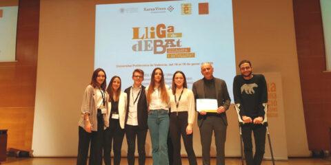 Equip campió de la fase local de la Universitat Politècnica de València a la Lliga de Debat de Secundària i Batxillerat