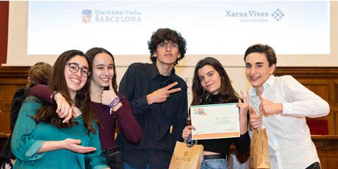 Equip campió de la fase local de la Universitat de Barcelona