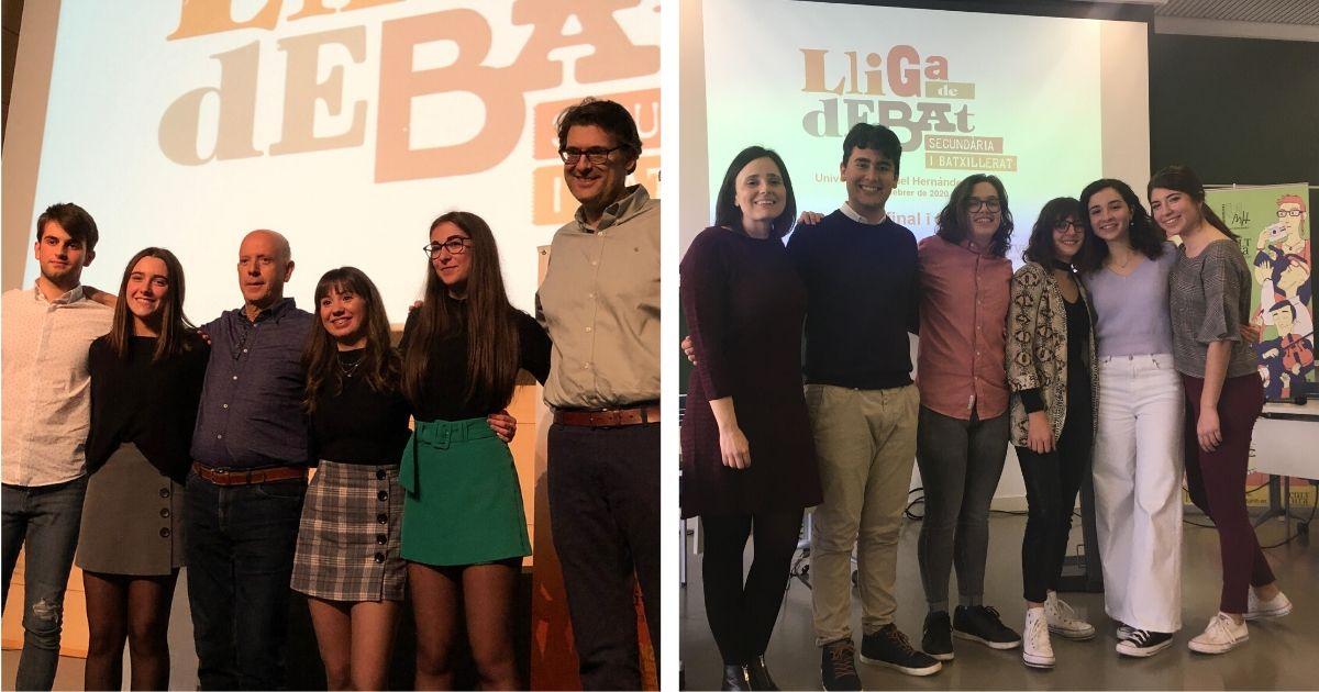 Equips campions de les fases locals de la Universitat d'Alacant i la Universitat Miguel Hernández d'Elx