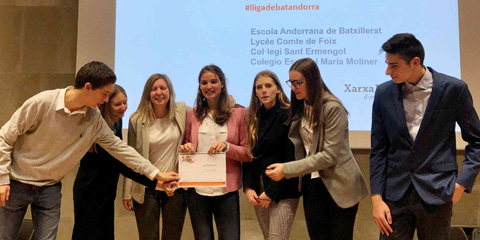 Equip campió de la fase local Universitat d'Andorra