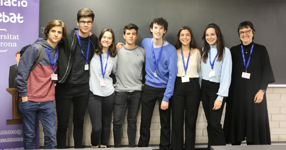 Equip campió de la fase local de la Universitat de Girona