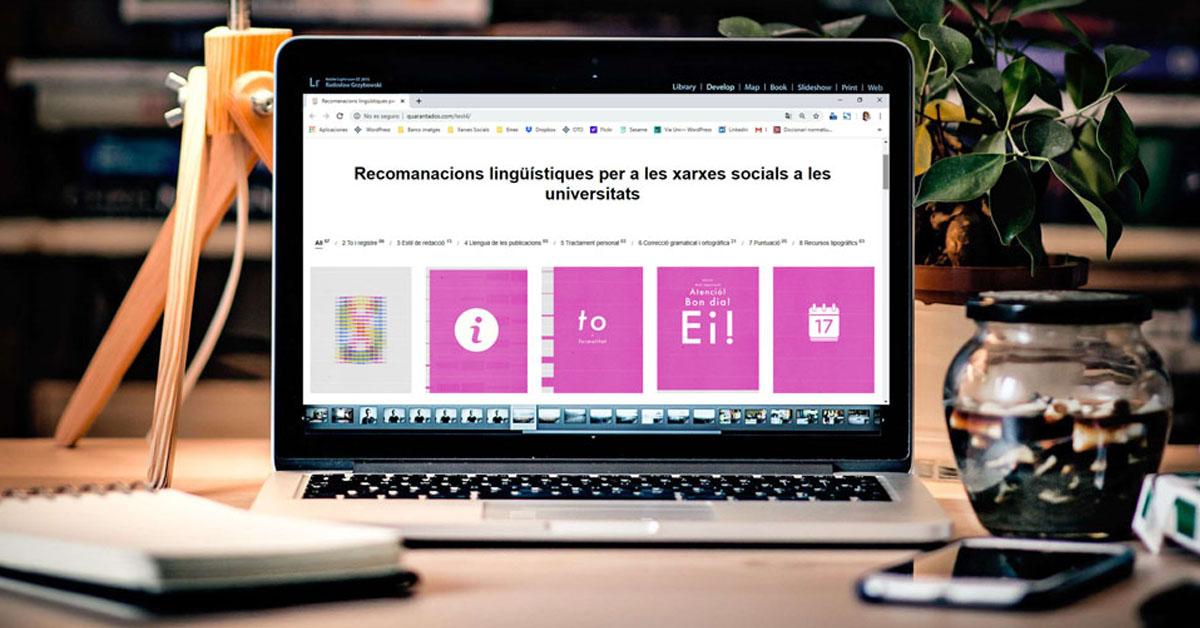 Recomanacions lingüístiques per a xarxes socials a les universitats